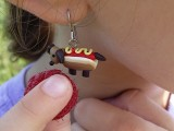try this dangly hot dog earring!